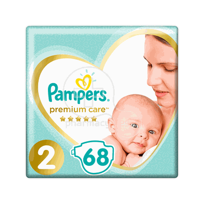 PAMPERS - PREMIUM CARE New Baby No2 (4-8kg) - 68 πάνες