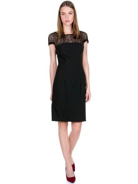52fafc60fd0a Dress with lace details - Toi moi
