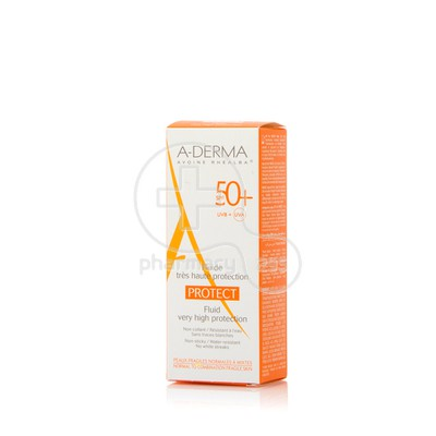 A-DERMA - PROTECT Fluide tres Haute Protection SPF50+ 40ml PNM