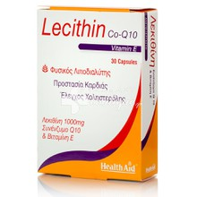Health Aid Lecithin 1000mg + Co Q10 + Vitamin E, 30 caps.