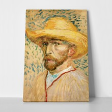 Van gogh   self portrait with hat a