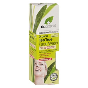 Dr organic tea tree face wash 200ml