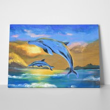 Dolphin in the sea oil painting 306937151 a