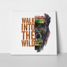 Wild monkey illustration half face 1013799502 a