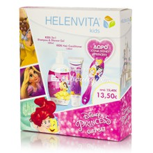 Helenvita Kids Disney Gift Σετ 2 in 1 Shampoo & Shower Gel - Princess, 500ml & Hair Conditioner 150ml & Δώρο Χτένα Princess