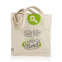 "PHARMACY 295 - Shopping Bag ""Τhe Best View Comes After The Hardest Climp"""