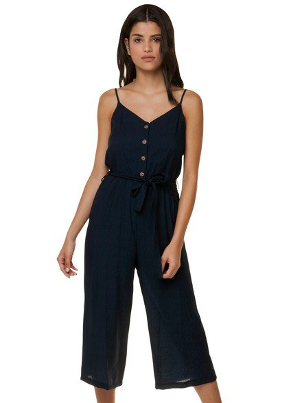 Crop jumpsuit with ribbon