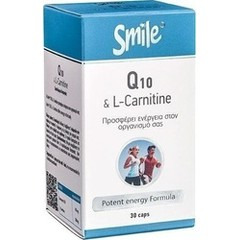 Smile Coenzyme Q-10 & L-Carnitine 30 κάψουλες