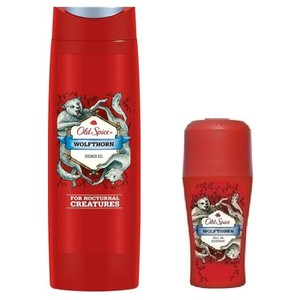 Old spice wolfthorn showergel   roll on