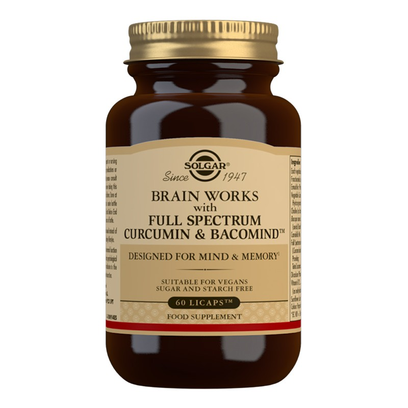 Brain Works with Full Spectrum Curcumin lipcaps™