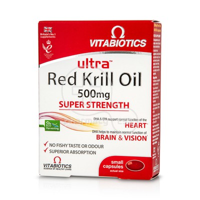 VITABIOTICS - ULTRA Red Krill Oil 500mg - 30caps