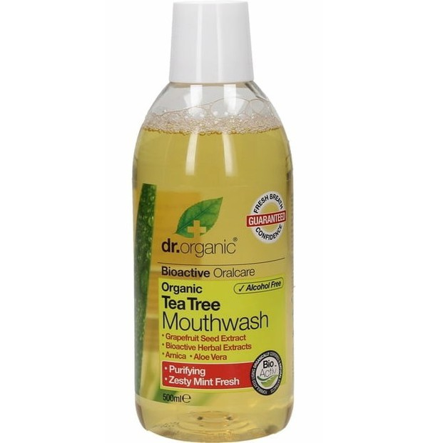 DR. ORGANIC TEA TREE MOUTHWASH 500ML