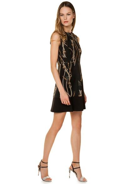 a580fa2ff9f Cocktail φόρεμα με τύπωμα αλυσίδες