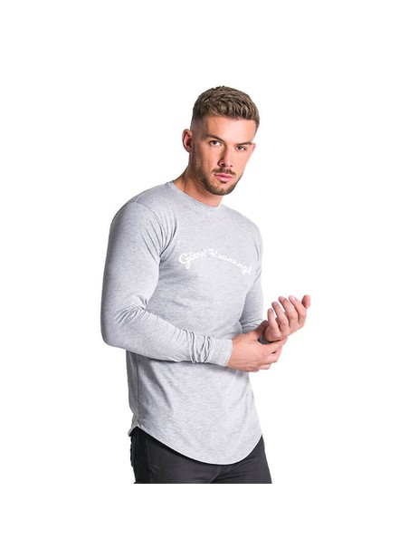 Gianni Kavanagh Grey GK Calligraphy Long Sleeve Tee