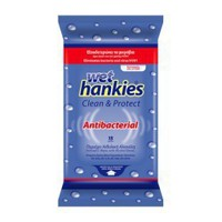 Wet Hankies Clean & Protect Antibacterial 15 Τεμ.