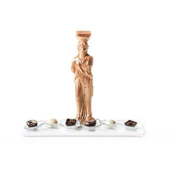 Chocolate Caryatid with Truffles