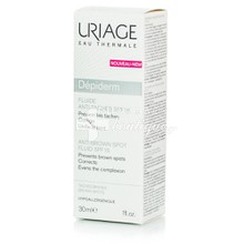 Uriage Depiderm Fluide Anti Taches SPF15 - Πανάδες / Κηλίδες, 30ml