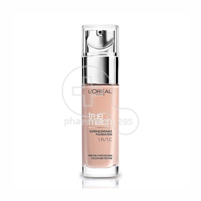 L'OREAL PARIS - TRUE MATCH Super Blendable Foundation No1R1C1 (Rose Ivory) - 30ml