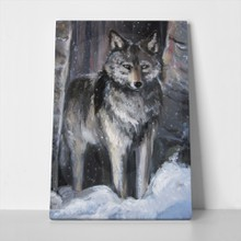 Wolf watercolor paint 236481331 a