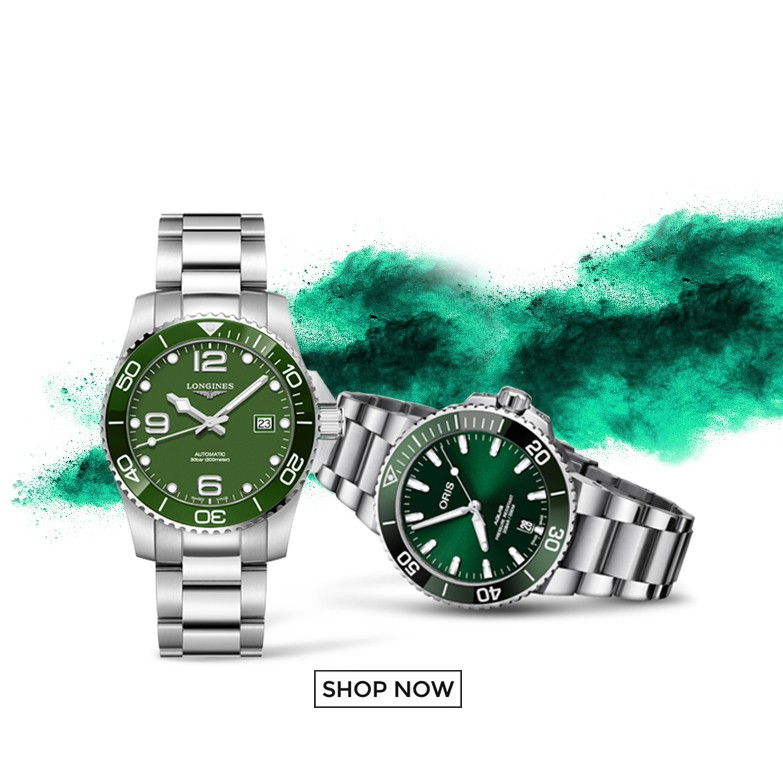 Shopmen longines oris green