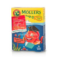 MOLLER'S - Omega-3 - 36 fish jellies φράουλα