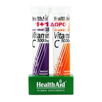 HEALTH AID VITAMIN C 1000MG 20EFF. TABL BLACKCURRANT (PROMO+VITAMIN C 1000MG ORANGE 20EFF. TABL)