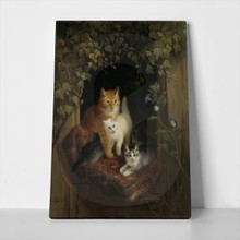 Cat with kittens painting 379005403 a