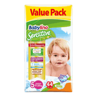 BABYLINO - VALUE PACK Babylino Sensitive Junior No5 (11-25 Kg) - 44 πάνες