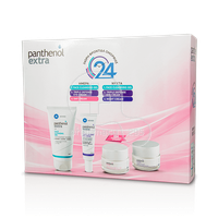 PANTHENOL EXTRA - PROMO PACK Face Cleansing Gel - 150ml, Triple Defence Eye Cream - 25ml, Day Cream SPF15 - 50ml & Night Cream - 50ml