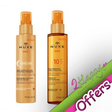 0a2db13577 Nuxe Sun Moisturising Protective Milky Oil for Hair Αντηλιακό Μαλλιών 100ml  + Tanning Oil Low Protection