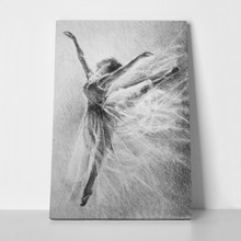 Ballerina jump sketch graphic arts pencil 1070242604 a