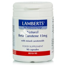 Lamberts Natural BETA CAROTENE (Vitamin A) 15mg, 90caps
