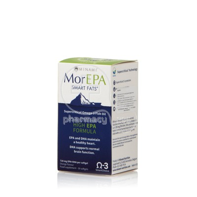 MINAMI - MorEPA Smart Fats 85% Supercritical Omega-3 Fish Oil - 30softgels