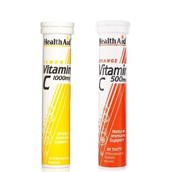 Health Aid Vitamin C 1000mg Lemon 20eff.tabs & ΔΩΡΟ Vitamin C 500mg 20 Αναβρ.