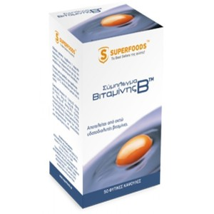 Superfoods food supplement complex of vitamin b 50caps
