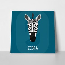 Abstract cartoon zebra portrait 419459482 a