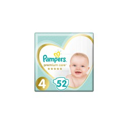 Pampers Premium Care Diapers Size 4 (9-14kg) 52 Diapers