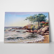 Cote d azur france watercolor 99853499 a