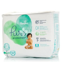 Pampers No.3 (6-10kg) - Pure Protection, 31τμχ