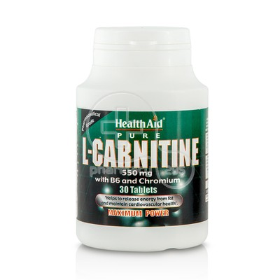 HEALTH AID - L-Carnitine 550mg with B6 & Chromium - 30tabs