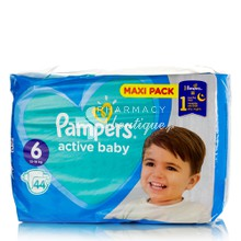 Pampers No.6 (13-18kg) - Active Baby Maxi Pack, 44τμχ