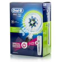 Oral-B PRO 750 CROSS ACTION Μαύρη & Θήκη Μεταφοράς (Special Edition)