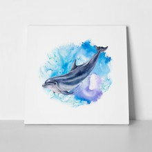 Abstract marine dolphin 746902729 a