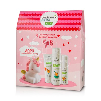 PANTHENOL - PROMO PACK PANTHENOL EXTRA BABY Baby Shower and Shampoo (300ml), Body Milk (100ml) & Nappy Cream (100ml) ΜΕ ΔΩΡΟ Mini φωτιστικό νυκτός σε σχήμα μονόκερου
