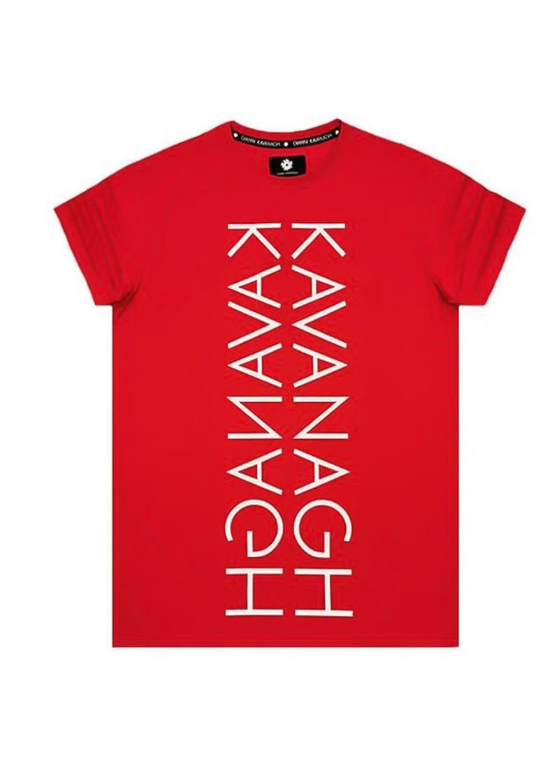 Gianni Kavanagh Red Tee With Kavanagh Mirror Print