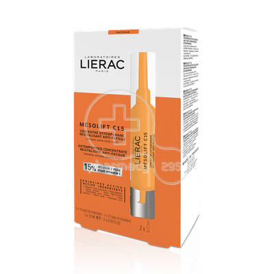 LIERAC - MESOLIFT C15 Concentre Extemporane Revitalisant Anti-Fatigue - 2x15ml