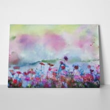 Soft watercolor flower field 242023549 a