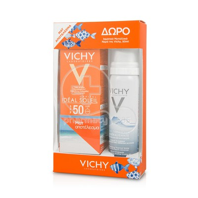 VICHY - PROMO PACK IDEAL SOLEIL SPF50 Ματ Αποτέλεσμα - 50ml Oily/Combination skin ΜΕ ΔΩΡΟ EAU THERMALE Spray - 50ml