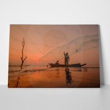 Fisherman throwing net 3 715147450 a