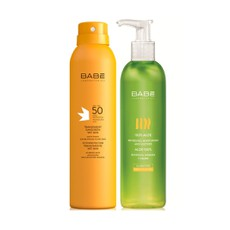 Babe PROMO PACK Transparent Sunscreen Wet Skin SPF50 200ml & ΔΩΡΟ Babe 100% Aloe Gel 300ml.
